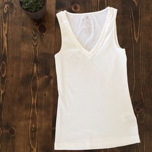 🍌Banana Republic- White Tank Top - M